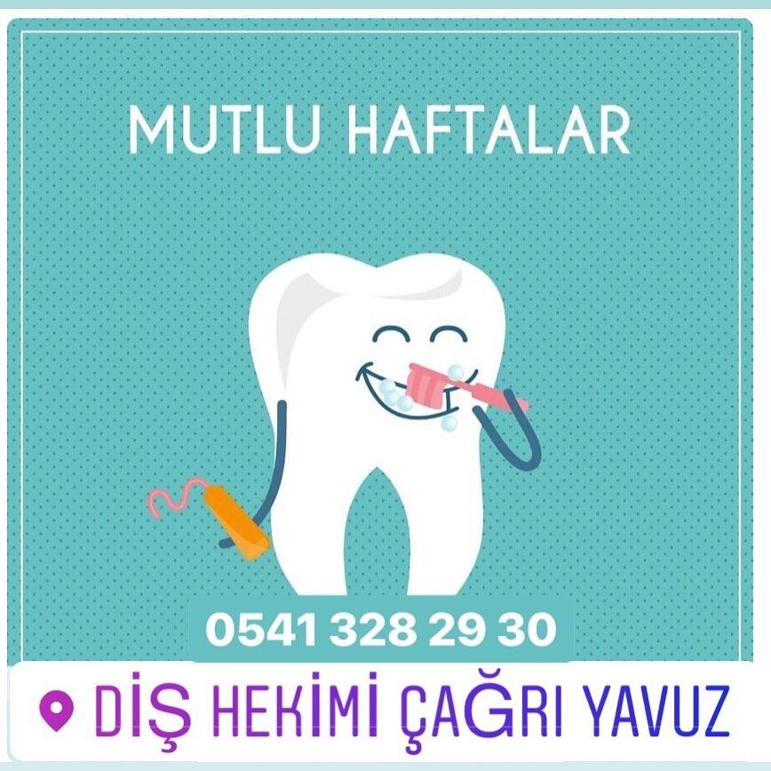 Ağız ve diş sağlığınıza özen göstereceğiniz mutlu haftalar dileriz Ne